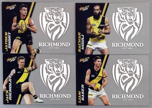 AFL SELECT FOOTY STARS RICHMOND TIGERS CLUB ACETATE SET