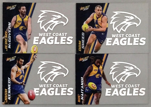 AFL SELECT FOOTY STARS WEST COAST EAGLES CLUB ACETATE SET