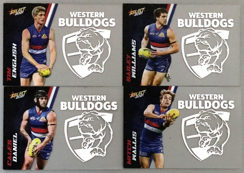 AFL SELECT FOOTY STARS WESTERN BULLDOGS CLUB ACETATE SET