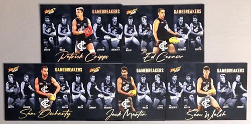 2021 AFL SELECT FOOTY STARS CARLTON BLUES GAME BREAKERS SET