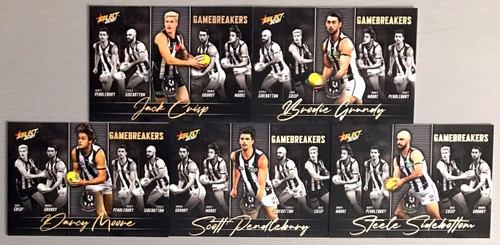 2021 AFL SELECT FOOTY STARS COLLINGWOOD MAGPIES GAME BREAKERS SET