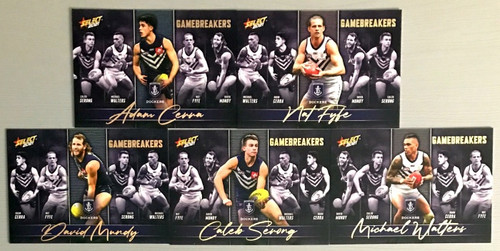 2021 AFL SELECT FOOTY STARS FREMANTLE DOCKERS GAME BREAKERS SET