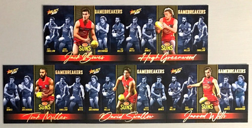 2021 AFL SELECT FOOTY STARS GOLD COAST SUNS GAME BREAKERS SET