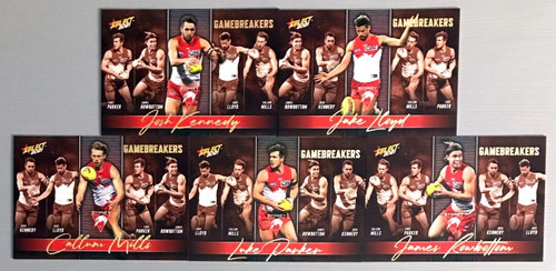 2021 AFL SELECT FOOTY STARS SYDNEY SWANS GAME BREAKERS SET
