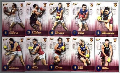 2021 AFL SELECT FOOTY STARS BRISBANE LIONS BASE TEAM SET INCLUDES AFLW