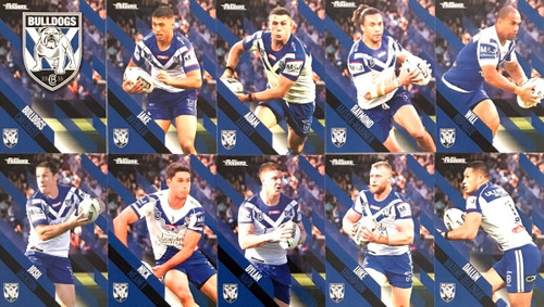 2021 NRL TRADERS CANTERBURY BULLDOGS BASE TEAM SET