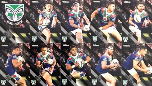 2021 NRL TRADERS NEW ZEALAND WARRIORS  BASE TEAM SET