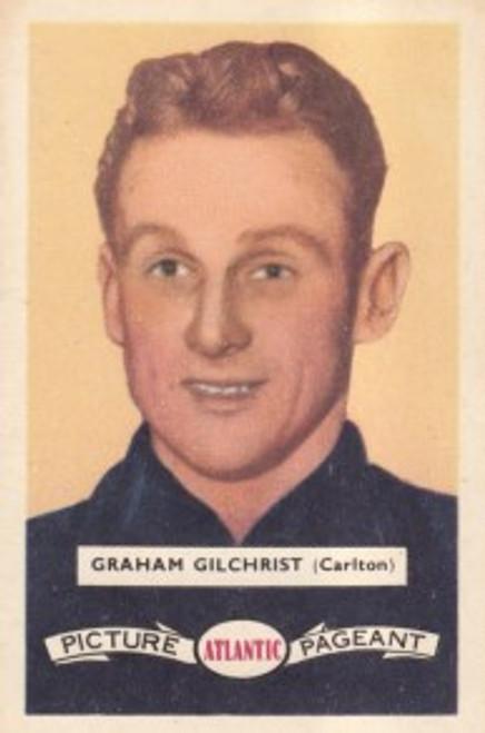 1958 Atlantic Victorian league Stars Card Carlton Blues GRAHAM GILCHRIST
