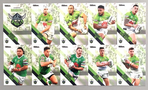 2021 NRL TRADERS CANBERRA RAIDERS PEARL PARALLEL TEAM SET