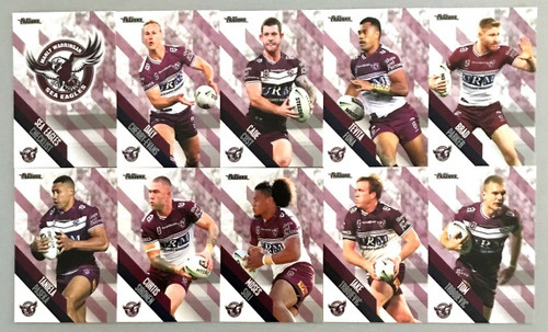 2021 NRL TRADERS MANLY SEA-EAGLES PEARL PARALLEL TEAM SET