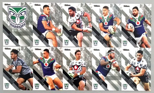 2021 NRL TRADERS NEW ZEALAND WARRIORS PEARL PARALLEL TEAM SET