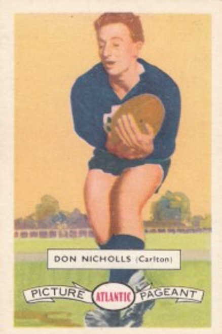 1958 Atlantic Victorian league Stars Carlton Blues DOUG NICHOLLS