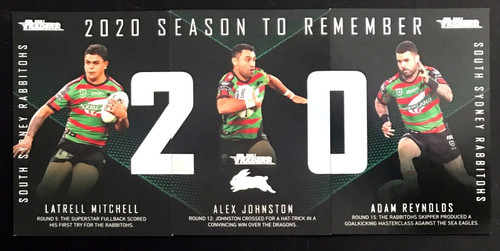 2021 NRL TLA TRADERS SOUTH SYDNEY RABBITOHS  2020 SEASON TO REMEMBER CARDS