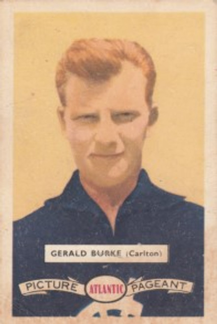 1958 Atlantic Victorian league Stars Carlton Blues GERALD BURKE