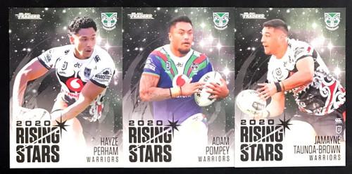 2021 NRL TLS TRADERS NEW ZEALAND WARRIORS RISING STARS TEAM SET
