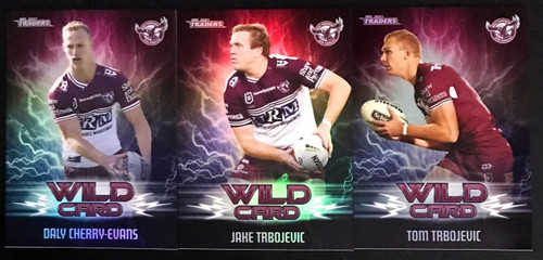 2021 NRL TLA TRADERS MANLY SEA-EAGLES WILD CARD SET