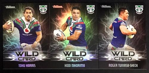 2021 NRL TLA TRADERS NEW ZEALAND WARRIORS WILD CARD SET