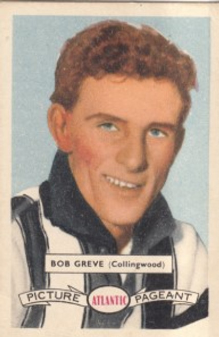 1958 Atlantic Victorian league Stars Collingwood Magpies BOB GREVE
