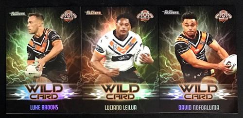 2021 NRL TLA TRADERS WESTS TIGERS WILD CARD SET