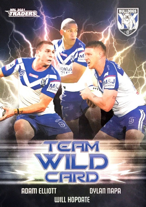 2021 NRL TLA TRADERS CANTERBURY BULLDOGS TEAM WILD CARD