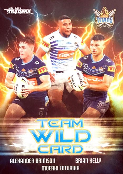 2021 NRL TLA TRADERS GOLD COAST TITANS TEAM WILD CARD