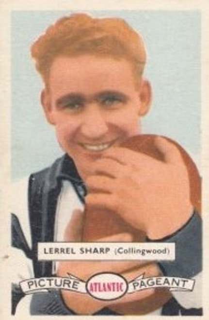 1958 Atlantic Victorian league Stars Collingwood Magpies LERREL SHARP