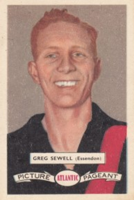 1958 Atlantic Victorian league Stars Essendon Bombers GREG SEWELL