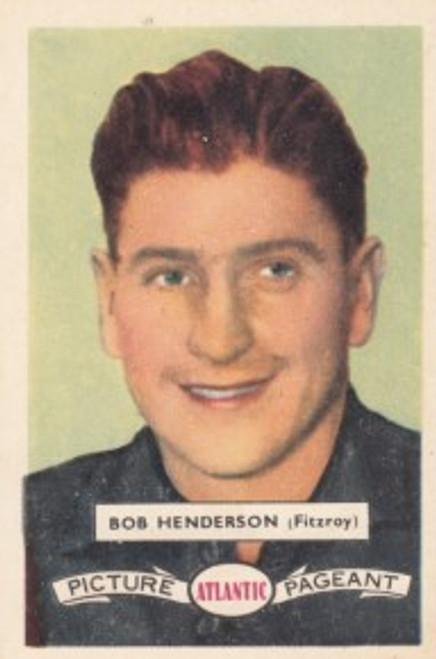 1958 Atlantic Victorian league Stars Fitzroy Lions BOB HENDERSON