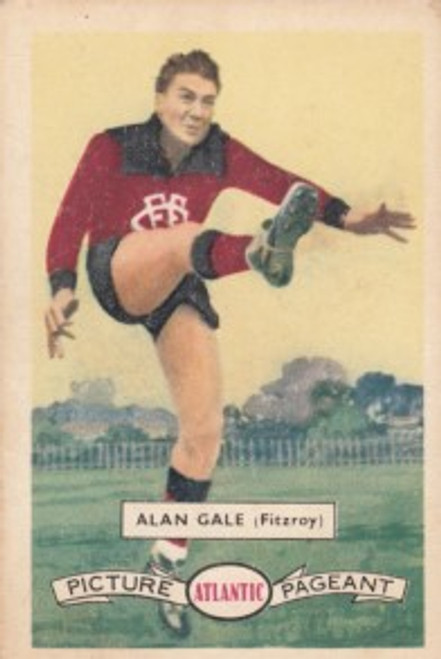 1958 Atlantic Victorian league Stars Fitzroy Lions ALAN GALE
