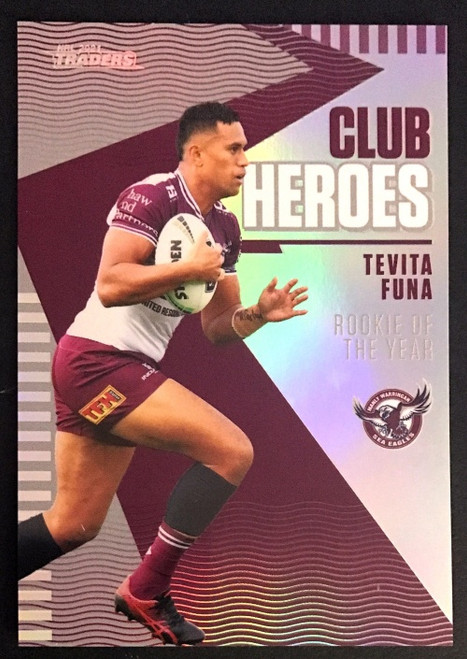 2021 NRL TRADERS TEVITA FUNA MALY SEA-EAGLES CLUB HEROES CARD
