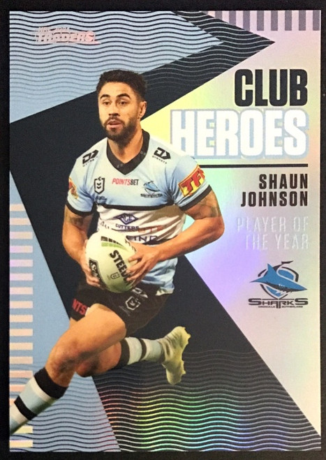 2021 NRL TRADERS SHAUN JOHNSON CRONULLA SHARKS CLUB HEROES CARD