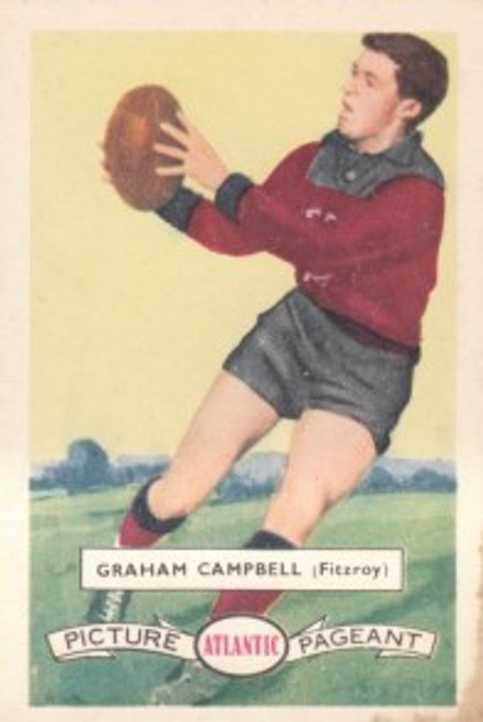 1958 Atlantic Victorian league Stars Fitzroy Lions GRAHAM CAMPBELL