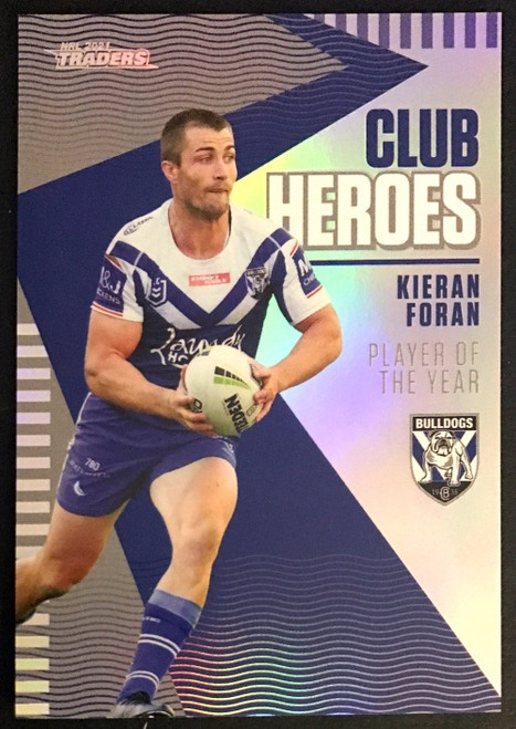 2021 NRL TRADERS KIERAN FORAN CANTERBURY BULLDOGS CLUB HEROES CARD