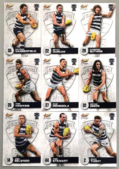 2021 AFL PRESTIGE SERIES GEELONG CATS BASE TEAM SET