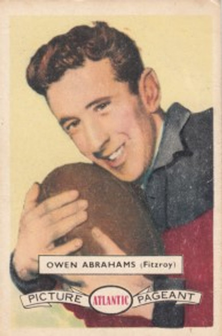 1958 Atlantic Victorian league Stars Fitzroy Lions OWEN ABRAHAMS