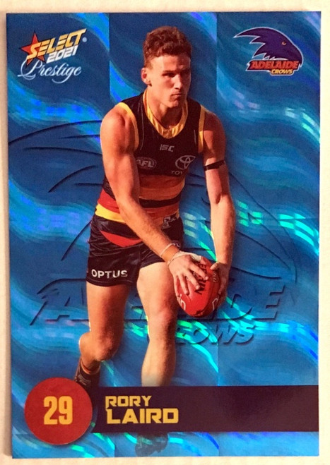 2021 AFL SELECT PRESTIGE BLUE PARALLEL CARD-RORY LAIRD ADELAIDECROWS