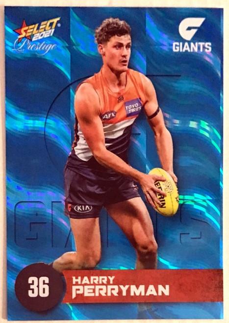 2021 AFL PRESTIGE BLUE PARALLEL CARD- HARRY PERRYMAN GREATER WESTERN SYDNEY GIANTS