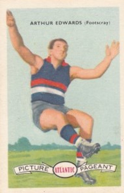 1958 Atlantic Victorian league Stars Footscray Bulldogs ARTHUR EDWARDS