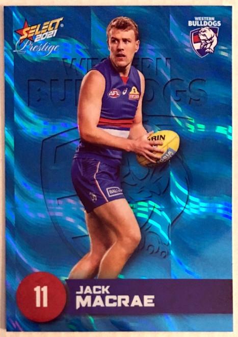 2021 AFL PRESTIGE BLUE PARALLEL CARD- JACK MACRAE WESTERN BULLDOGS