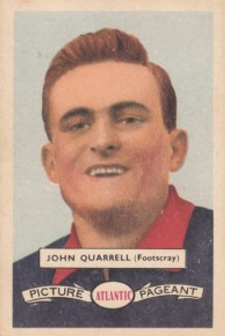 1958 Atlantic Victorian league Stars Footscray Bulldogs JOHN QUARRELL
