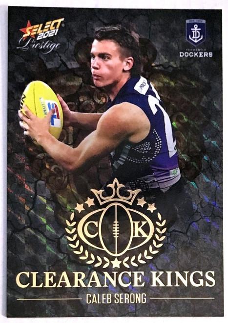 2021 AFL PRESTIGE CLEARANCE KINGS CALEB STRONG FREMANTLE DOCKERS CARD