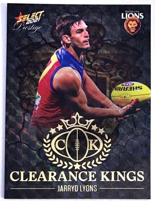 2021 AFL PRESTIGE CLEARANCE KINGS JARRYD LYONS BRISBANE LIONS CARD