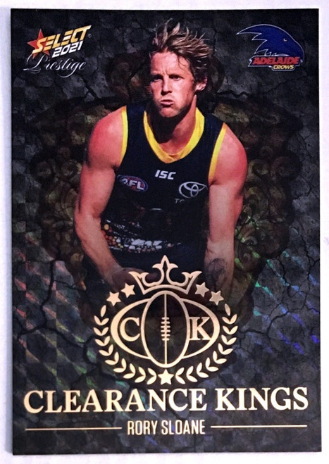 2021 AFL PRESTIGE CLEARANCE KINGS RORY SLOANE ADELAIDE CROWS CARD