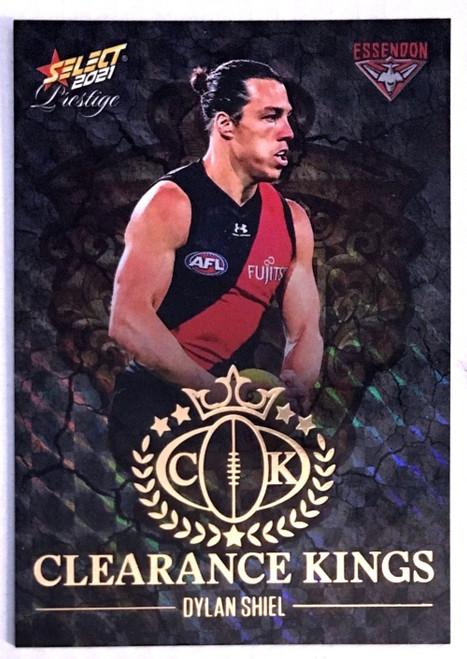 2021 AFL PRESTIGE CLEARANCE KINGS DYLAN SHIEL ESSENDON BOMBERS CARD