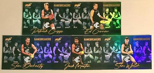 2021 AFL SELECT PRESTIGE CARLTON BLUES GAME BREAKERS TEAM SET