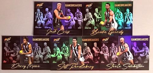 2021 AFL SELECT PRESTIGE COLLINGWOOD MAGPIES GAME BREAKERS TEAM SET