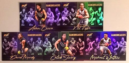 2021 AFL SELECT PRESTIGE FREMANTLE DOCKERS GAME BREAKERS TEAM SET