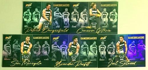 2021 AFL SELECT PRESTIGE GEELONG CATS GAME BREAKERS TEAM SET