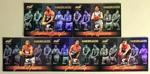 2021 AFL SELECT PRESTIGE GREATER WESTERN SYDNEY GIANTS GAME BREAKERS TEAM SET