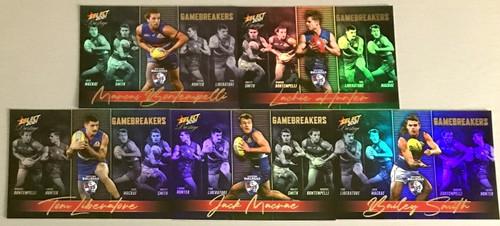 2021 AFL SELECT PRESTIGE WESTERN BULLDOGS GAME BREAKERS TEAM SET
